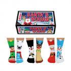 Santas Squad Weihnachten Oddsocks Socken für Kinder in 30,5-38,5 im 6er Set