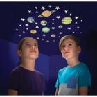 Planeten und Sterne Sticker mit Glow in the Dark Effekt im 43er Set