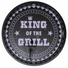 King of the Grill Serviertablett in schwarz