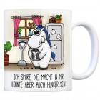 Honeycorns Kaffeebecher mit Einhorn Motiv und Spruch: Ich spüre die Macht in mir. Könnte ...