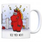 Honeycorns Kaffeebecher mit Einhorn Motiv und Spruch: Reiz mich nicht!