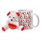 Liebesherzen Kaffeebecher mit Plüsch-Teddy