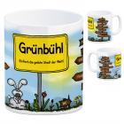 Grünbühl - Einfach die geilste Stadt der Welt Kaffeebecher