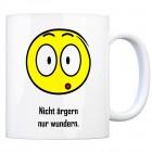 Kaffeebecher mit Spruch: Nicht ärgern nur wundern.