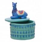 Lama Schmuckschale in blau