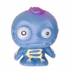 Mini Monster Stressball in blau mit Skelett