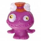 Mini Monster Stressball in lila mit Knochen im Haar