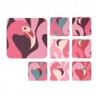 Flamingo Untersetzer in rechteckig im 8er Set