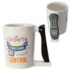 TV-Junkie Kaffeebecher mit Fernbedienung als Griff