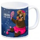 Kaffeebecher mit Faultier Sternzeichen Jungfrau Motiv