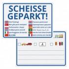 Scheisse Geparkt! International Edition Notizblock für die Windschutzscheibe mit 50 Blatt
