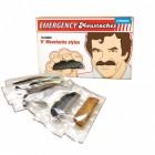 Notfall Schnurrbart Set zum Aufkleben