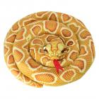 Schlange Kuscheltier mit 1,50m Länge in gelb