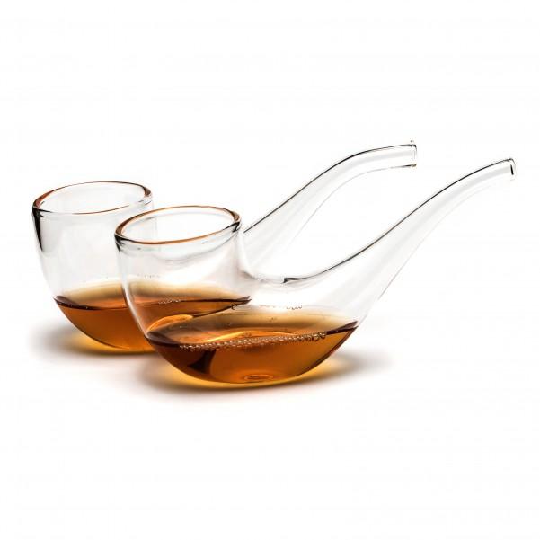 Extrem Das 2er Set Pfeife Gläser mit Holzständer   Geschenke für Männer WN28