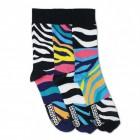 Oddsocks Josh Socken mit Zebra-Muster im 3er Set