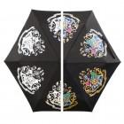 Harry Potter Hogwarts Wappen Regenschirm mit Farbwechsel bei Regen