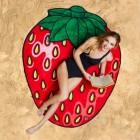 Erdbeere Badetuch