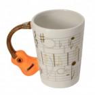 Akustikgitarre 3D Kaffeebecher mit Gitarre als Griff