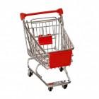Einkaufswagen Stiftehalter in rot
