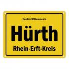 Herzlich willkommen in Hürth, Rheinland, Rhein-Erft-Kreis Metallschild