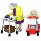 Racing Granny & Speeding Grandad - aufziehbare Senioren
