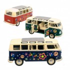 Modellauto VW T1 - Flower Power Edition - ca. 17,5 cm