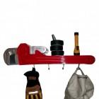 Rohrzange 3D Wandregal mit Kleiderhaken