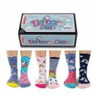 Einhorn und Regenbogen Oddsocks Socken in 30,5-38,5 im 6er Set