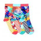Blumen Oddsocks Socken in 37-42 im 3er Set