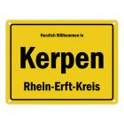 Herzlich willkommen in Kerpen, Rheinland, Rhein-Erft-Kreis Metallschild