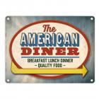 Metallschild mit Classic American Diner Motiv