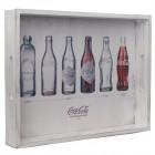 Coca-Cola Flaschengeschichte Serviertablett aus Holz