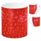 Foto Kaffeebecher mit Erdbeer Motiv