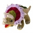 Triceratops Dinosaurier Kuscheltier in grün