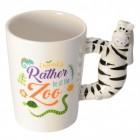 Zebra 3D Kaffeebecher mit Zebra als Griff