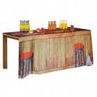 Hausbar Tischdecke mit Beer Pong Feldern