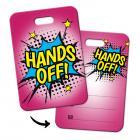 Hands off! Gepäckanhänger mit Comic Motiv