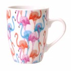 Flamingo Kaffeebecher in pink und blau