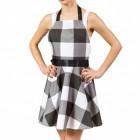 Rockabilly Kleid Kochschürze in schwarz-weiß