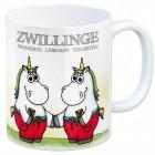 Sternzeichen Kaffeebecher mit Einhorn Zwilling Motiv
