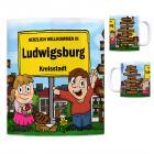 Herzlich Willkommen in Ludwigsburg (Württemberg) Kaffeebecher
