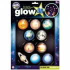 Glow in the Dark Planeten 3D Sticker im 10er Set