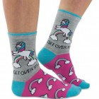Einhorn Regenbogen Socken in 37-42 im Paar