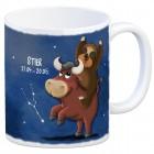 Kaffeebecher mit Faultier Sternzeichen Stier Motiv