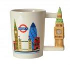 Big Ben - London Kaffeebecher mit Turm als Griff