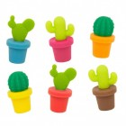 Kaktus Glasmarkierer im 6er Set