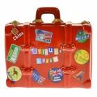 Die Urlaubskasse Koffer Spardose aus Keramik