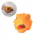 Dinosaurier Kopf Stressball mit bunten Gel-Kugeln in orange