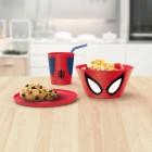 Spiderman Geschirrset mit Müslischale, Teller und Trinkbecher