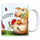 Viel Glück zum 80. Geburtstag Kaffeebecher